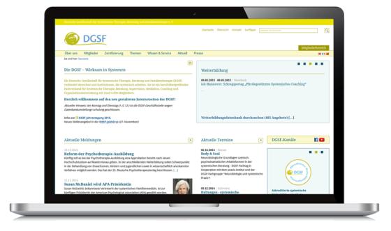 Die neue Site der Kölner DGSF.
